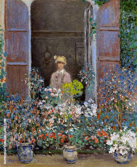 Camille Monet at the Window By Claude Monet - Oil Paintings & Art Reproductions - Reproduction Gallery