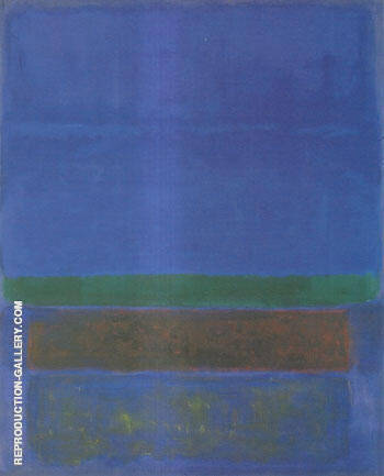 Untitled Blue Green and Brown 1952 Painting By Mark Rothko