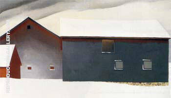 Barn with Snow 1934 By Georgia O'Keeffe - Oil Paintings & Art Reproductions - Reproduction Gallery