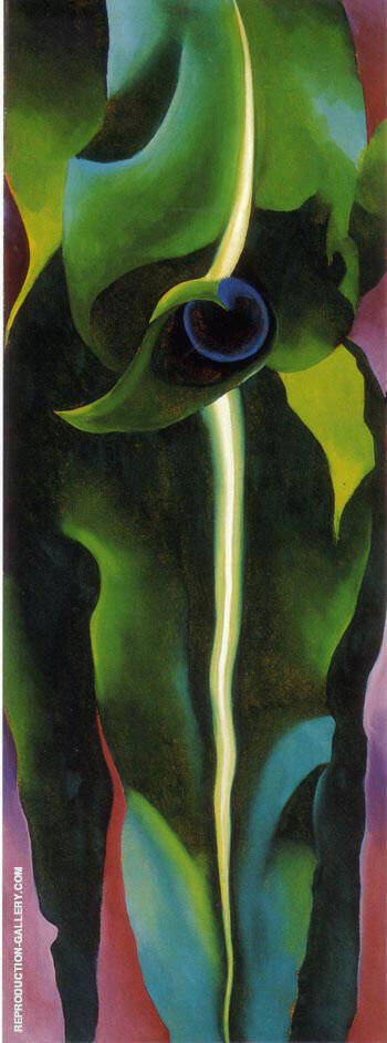 Corn Dark I 1924 By Georgia O'Keeffe - Oil Paintings & Art Reproductions - Reproduction Gallery