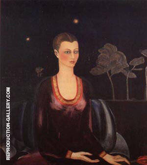 Portrait of Alicia Galant 1927 By Frida Kahlo - Oil Paintings & Art Reproductions - Reproduction Gallery