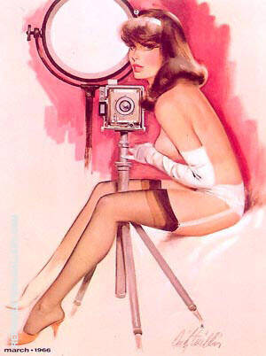 Smile for the Camera Painting By Pin Ups - Reproduction Gallery