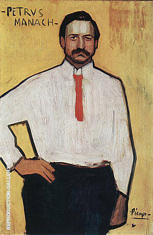 Pedro Manach  1901 By Pablo Picasso Replica Paintings on Canvas - Reproduction Gallery