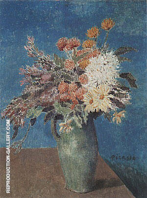 Vase of Flowers  1901 By Pablo Picasso Replica Paintings on Canvas - Reproduction Gallery