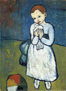 Child Holding a Dove 1901 By Pablo Picasso