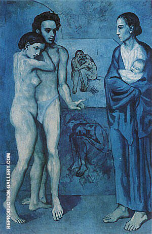 La Vie 1903 Painting By Pablo Picasso - Reproduction Gallery