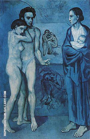 La Vie 1903 By Pablo Picasso