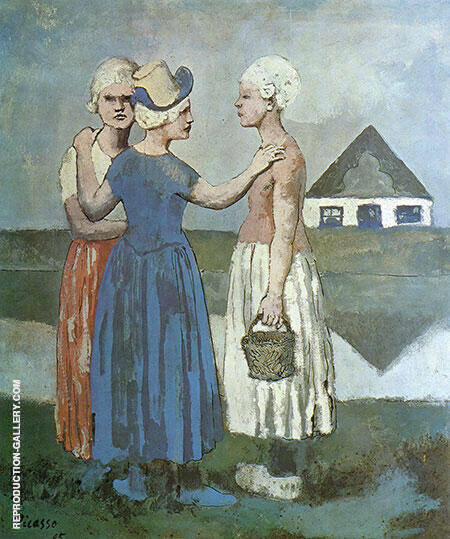 Three dutch girls 1905 by pablo picasso oil paintings for Picasso painting names