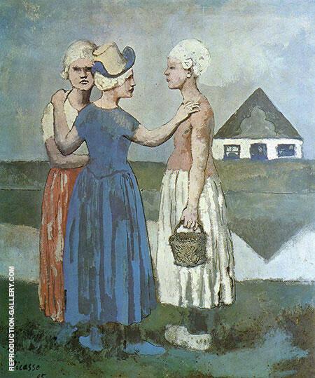 Three Dutch Girls 1905 By Pablo Picasso