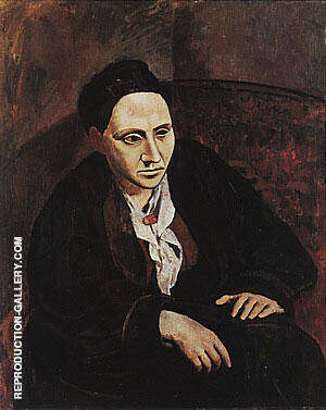 Portrait of Gertrude Stein  1905-06 By Pablo Picasso