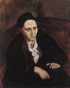 Portrait of Gertrude Stein 1905-06 By Pablo Picasso
