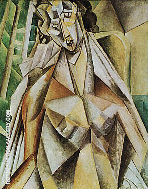 Nude in an Armchair Seated Woman 1909 By Pablo Picasso