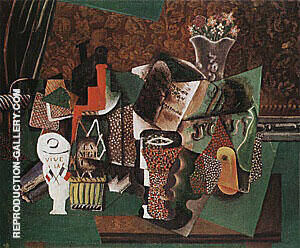 Still Life Vive La France  1914-15 By Pablo Picasso Replica Paintings on Canvas - Reproduction Gallery