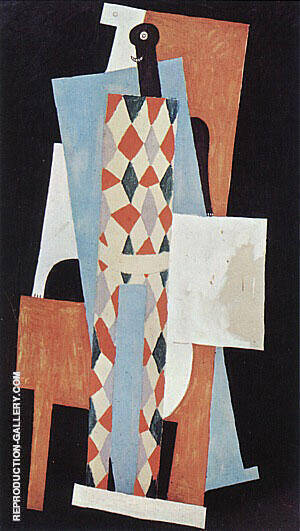 Harlequin 1915 By Pablo Picasso - Oil Paintings & Art Reproductions - Reproduction Gallery