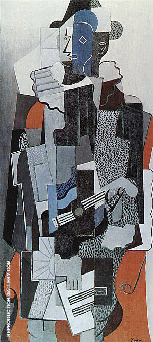 Harlequin 1918 By Pablo Picasso