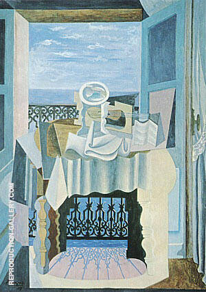 Open Window at St. Raphael  1919 By Pablo Picasso - Oil Paintings & Art Reproductions - Reproduction Gallery