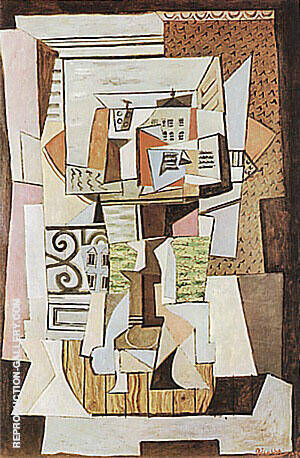 Still Life on a Table  1920 By Pablo Picasso - Oil Paintings & Art Reproductions - Reproduction Gallery