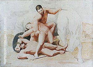 The Rape 1920 By Pablo Picasso - Oil Paintings & Art Reproductions - Reproduction Gallery