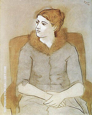 Portrait of Olga  1923 By Pablo Picasso - Oil Paintings & Art Reproductions - Reproduction Gallery