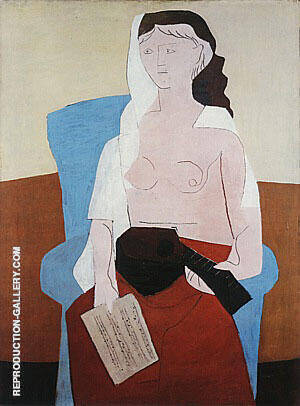 Woman with a Mandolin  1925 By Pablo Picasso Replica Paintings on Canvas - Reproduction Gallery