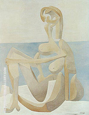 Seated Bather  1930 By Pablo Picasso - Oil Paintings & Art Reproductions - Reproduction Gallery