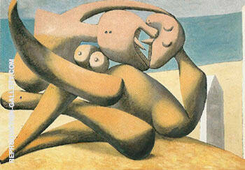Figures by the Sea The Kiss 1931 By Pablo Picasso