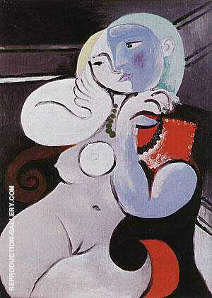 Nude Woman in a Red Armchair 1932 Painting By Pablo Picasso