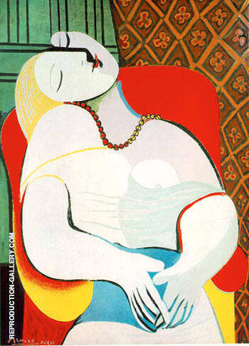 Reproduction of The Dream  1932 by Pablo Picasso | Oil Painting Replica On CanvasReproduction Gallery