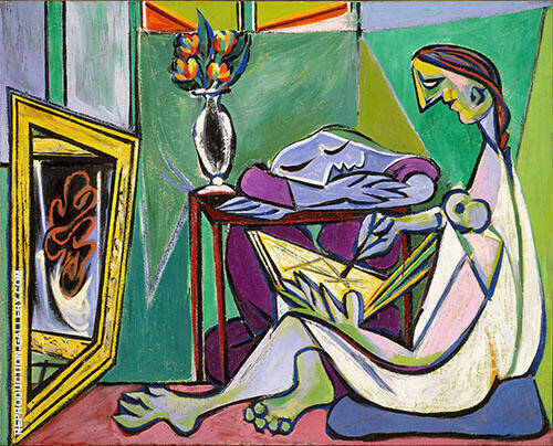 The Muse 1935 By Pablo Picasso - Oil Paintings & Art Reproductions - Reproduction Gallery