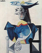 Woman in a Fish Hat 1942 By Pablo Picasso