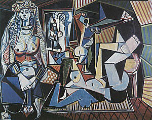 Women of Algiers, after Delacroix  1955 By Pablo Picasso - Oil Paintings & Art Reproductions - Reproduction Gallery