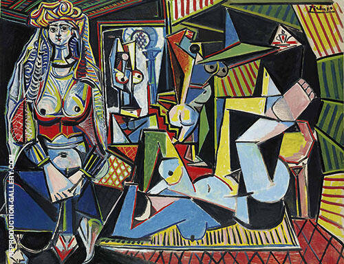 Women of Algiers, after Delacroix  1955 By Pablo Picasso Replica Paintings on Canvas - Reproduction Gallery