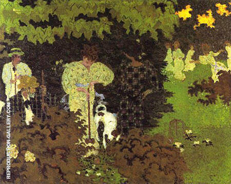 Twilight The Croquet Party By Pierre Bonnard - Oil Paintings & Art Reproductions - Reproduction Gallery