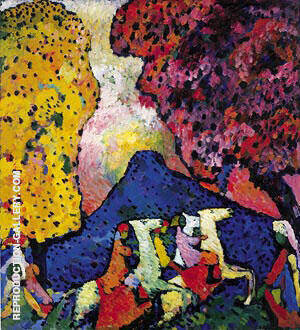 Blue Mountain 1908 Painting By Wassily Kandinsky - Reproduction Gallery