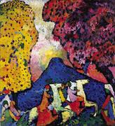 Blue Mountain 1908 By Wassily Kandinsky