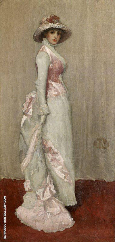 Harmony in Pink and Gray, Valerie, Lady Meux 1881 By James McNeill Whistler