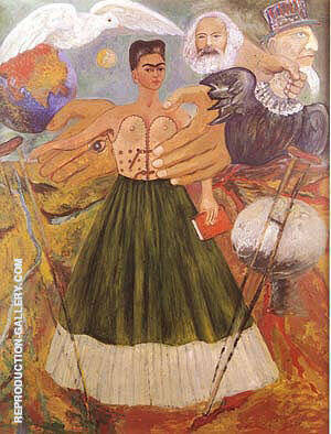 Marxism Will Give Health to the Sick 1954 Painting By Frida Kahlo