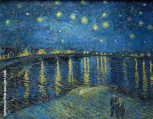 Starry Night over the Rhone 1888 By Vincent van Gogh