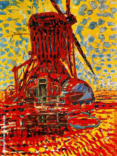 Windmill in Sunlight,  1908 By Piet Mondrian Replica Paintings on Canvas - Reproduction Gallery