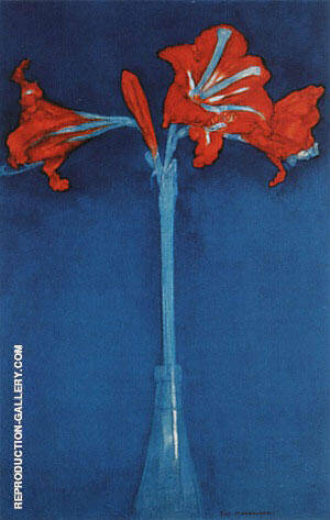 Amaryllis,  1910 By Piet Mondrian - Oil Paintings & Art Reproductions - Reproduction Gallery
