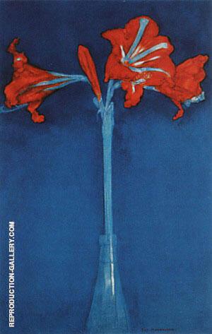 Amaryllis, 1910 By Piet Mondrian
