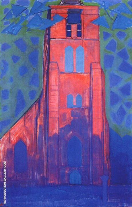 Church near Domburg 1911 By Piet Mondrian