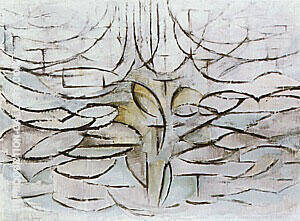 Apple Tree in Flower,  1912 By Piet Mondrian - Oil Paintings & Art Reproductions - Reproduction Gallery