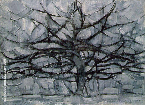 The Gray Tree  1912 By Piet Mondrian Replica Paintings on Canvas - Reproduction Gallery