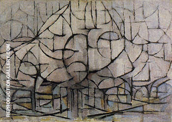 Trees in Blossom 1912 By Piet Mondrian