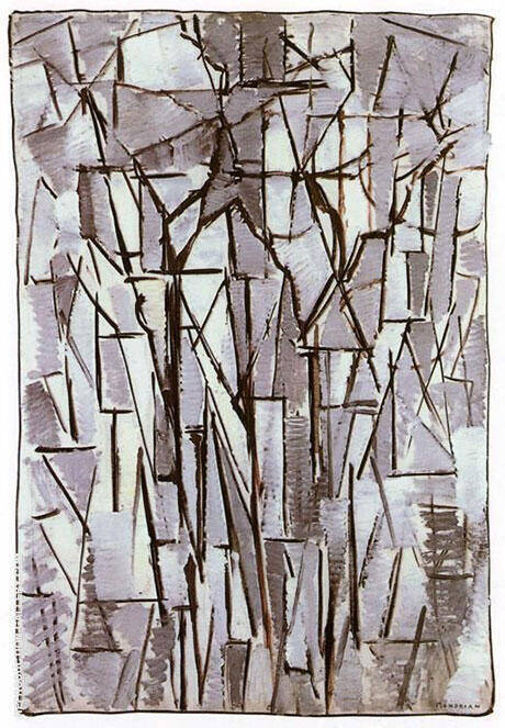 Composition Trees II 1912 By Piet Mondrian - Oil Paintings & Art Reproductions - Reproduction Gallery