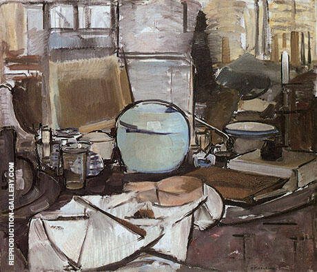 Still Life with Ginger Jar I Painting By Piet Mondrian