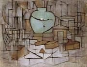 Still Life with Ginger Jar II By Piet Mondrian