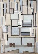 Composition No. 9 Blue Facade By Piet Mondrian