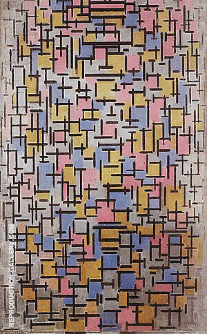 Composition, 1916 By Piet Mondrian Replica Paintings on Canvas - Reproduction Gallery